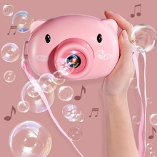Children Piggy Bubble Machine Toy Automatic Camera Bubble Blowing Machine Party Gifts