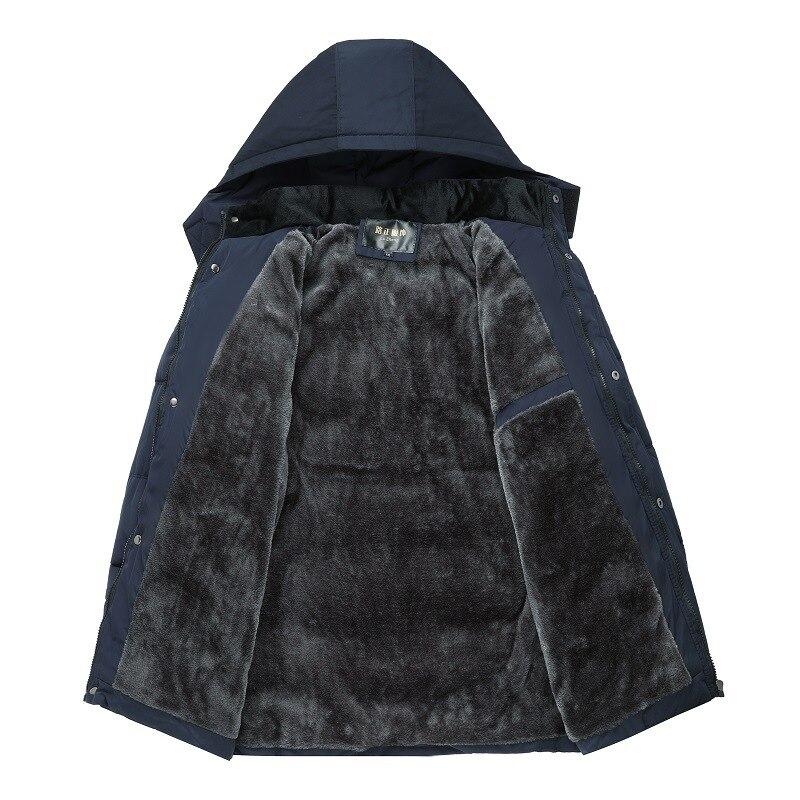 Image 4 - FAVOCENT Winter Jacket Men Thicken Warm Men Parkas Hooded Coat  Fleece Mans Jackets Outwear Windproof Parka Jaqueta MasculinaParkas