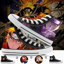 WHOHOLL marca Naruto Anime dibujos animados pintados a mano zapatos de lona de alta calidad zapatillas de deporte informales zapatos de minion adultos Minions zapatillas 35-44