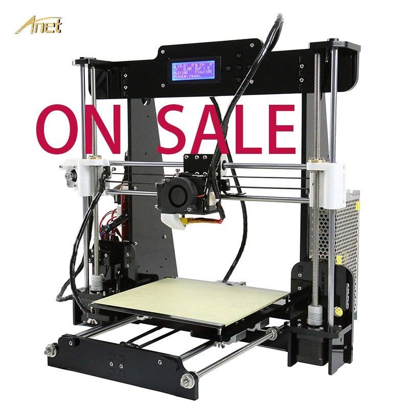 Anet alta precisão a6 a8 desktop impressora 3d automático de nivelamento 8 gb cartão sd