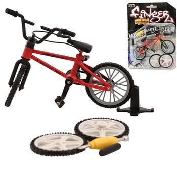 Mini BMX bicicletas de montaña de dedo juguetes al por menor caja + 2 uds de repuesto mini-finger-bmx bicicleta juego creativo regalo para niños nuevo