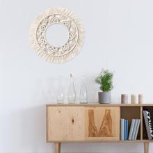 Богемные с бахромой стены рамки гобелен макраме Праздничное оформление настенный Декор Картина в рамке для дома гостиной украшения