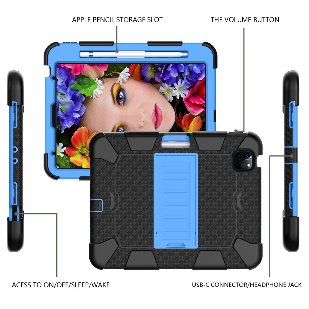 Tablet iPad Heavy for Hybird 10.9 2020 Case Shockproof inch Duty Rugged 4 Kids PC Air