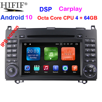 IPS 4G RAM Octa Core 1024*600 2 din 4GB RAM car DVD Android 10 for Mercedes/benz B200 A160 Viano Vito GPS NAVI RADIO BT wifi 4G image