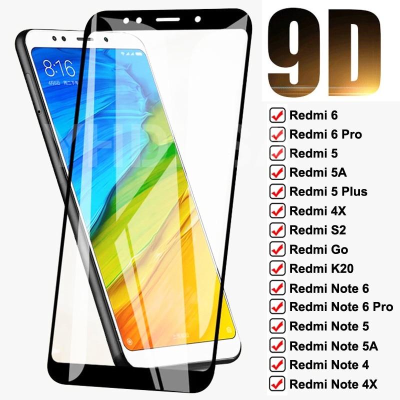 9d vidro temperado para xiaomi redmi 5 plus 5a 6 6a 4x s2 ir k20 protetor de tela cheia redmi nota 6 5 5a 4 4x pro película protetora