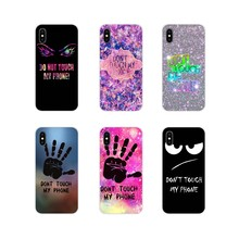 Do Not dont Touch My Accessories Phone Shell Covers For ZTE Blade A5 2019 V6 V7 V8 Lite V9 V10 A 452 510 512 520 530 602 610 910(China)