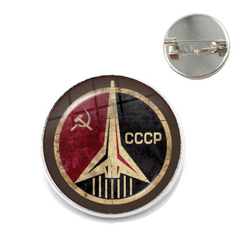 CCCP Soviet Badges Russia Brooches Space Flight Universe USSR Soviet Communism Symbol Charm Collar Pins Jewelry For Friends Gift image