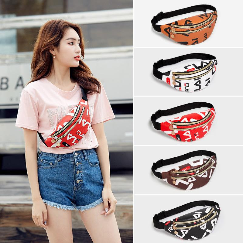 2020 Personalized Large-capacity Double-layer Ladies Waist Bag Fashion Cross-body Chest Bag Outdoor Sports Phone Waist Bag