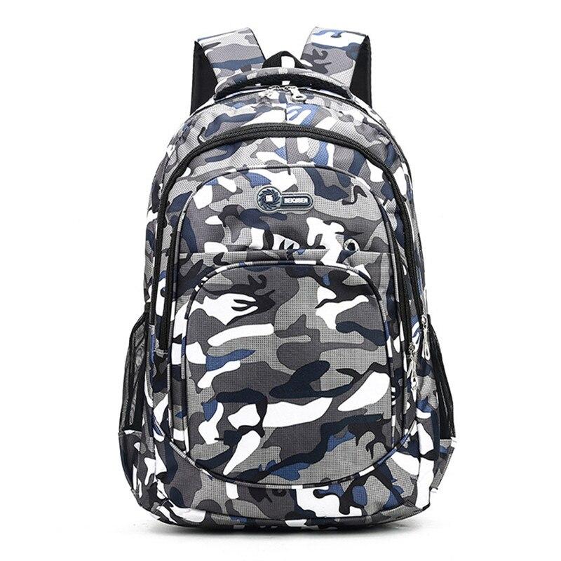 2 Sizes Camouflage Waterproof School Bags For Girls Boys Orthopedic Children Backpack Kids Book Bag Mochila Escolar Schoolbag|School Bags| |  - title=