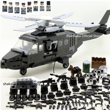 SWAT الجيش العسكري WW2 هليكوبتر القوات الخاصة فريق الجندي CS اللبنات الطوب أرقام هدايا تعليمية لعب الأولاد مجموعة