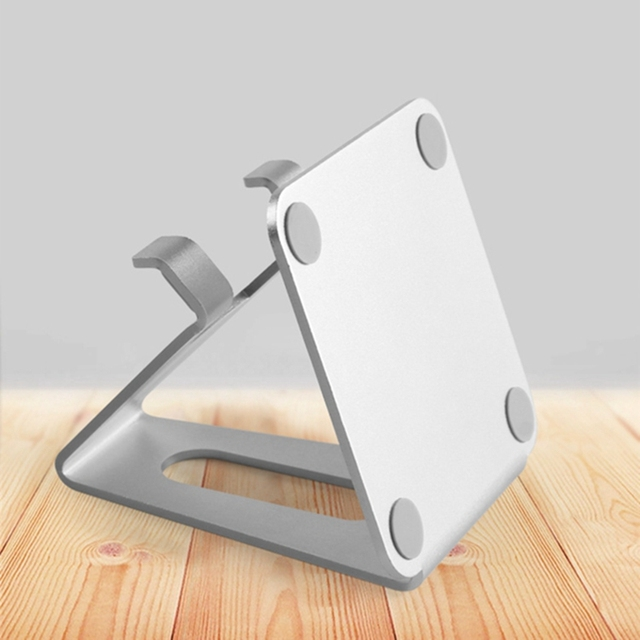 Suporte universal de alumínio para celular, suporte para tablet, liga de alumínio, para iphone x/8/7/6/5 mais samsung telefone/ipad 2
