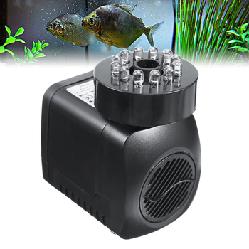 15W Submersible Water Pump With LED Light For Garden Aquarium Fish Tank Pond Fountain Pump dc 12v submersible water pump aquarium fish tank fountain pond water pump