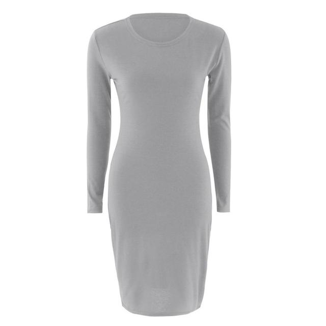 Solid Color Chic Party Dresses Casual Sleep Wear Inside Wear Vestiges Pencil Dress 5