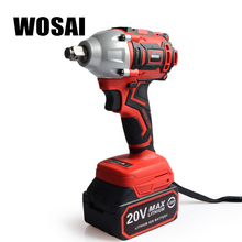цена на WOSAI 20V Brushless Electric Wrench Impact Wrench Socket Wrench 320N.m 4.0AH Li Battery Hand Drill Installation Power Tools