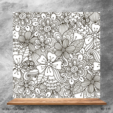 ZhuoAng Blooming background Clear Stamps/Silicone Transparent Seals for DIY scrapbooking photo album Stamps