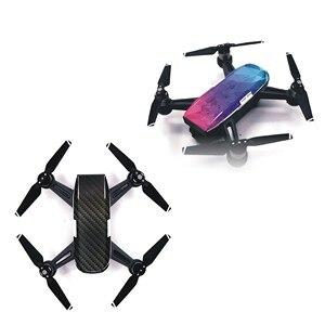 Image 3 - 6 farben (6 teile/los) wasserdicht Drone Schutz PVC Haut Abdeckung Aufkleber für DJI Funken Kamera Drone Körper Haut Decals Zubehör