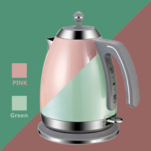 220V Electric Kettle Water Heater Boiler Green Pink 1.7L 1800W BPA-Free Fast Boiling British Strix Thermostat Electric Tea Pot