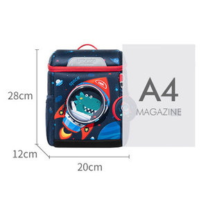 Image 3 - 3D Space Dinosaur Rabbit School Backpack for 2 6 Years Old Waterproof Cartoon Boys Schoolbag Children Gift Mochila Infantil (S)