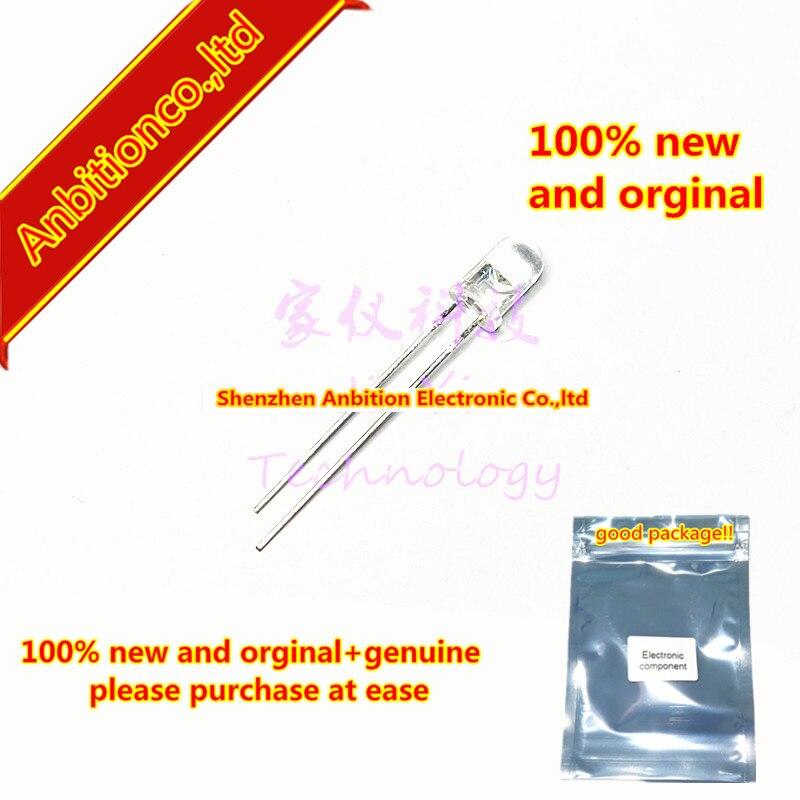 100pcs  100% New And Orginal L-7113PBC LED 5mm Round Head White Hair Blue Light 458NM ± 16 ° In-line Led Light In Stock