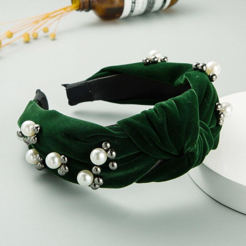 Ncmama одноцветные жемчужные повязки на голову для девушек Женские