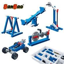 BanBao MOC 6918 Power Machine Leverage Technic Experiment Bricks Educational Models Building Blocks Toys For Children Kids Gifts