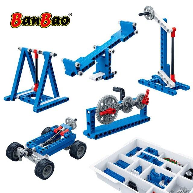 Banbao moc 6918電源機レバレッジテクニック実験レンガ教育モデルのビルディングブロックのおもちゃ子供キッズギフト
