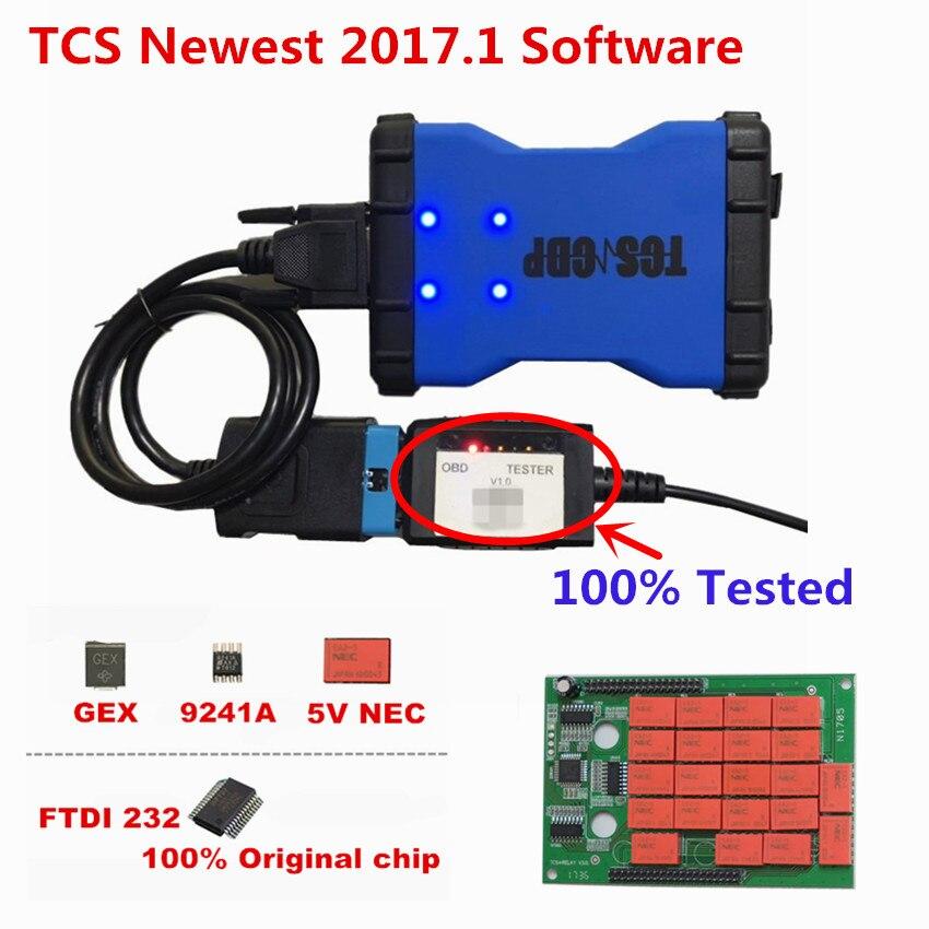 10PCS V3.0 Double Green board 9241A OBDIICAT TCS PRO 2016.00/2017.1 OBDII Scanner cars trucks code reader diagnostic tool