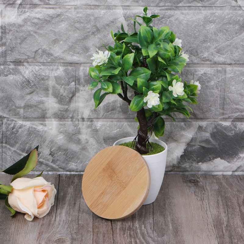 Bambu Bulat Kayu Piring Tanaman Tray Mini Tanaman Bunga Pot Berdiri Mendukung Succulent Pot Tray Desain Simple Elegan Rumah Balkon
