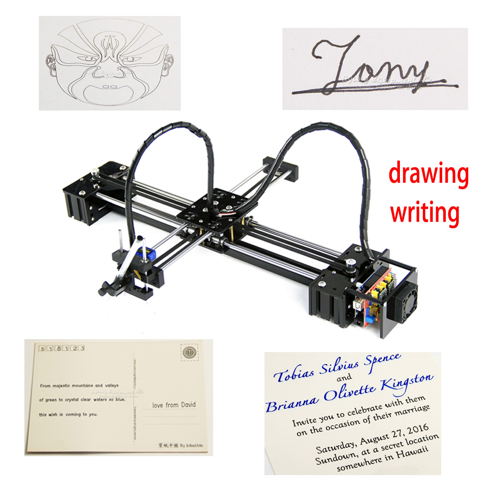 birthday gifts for kids Sofeware and CNC V3 shield toys DIY LY drawbot pen lettering corexy XY-plotter drawing robot machine image