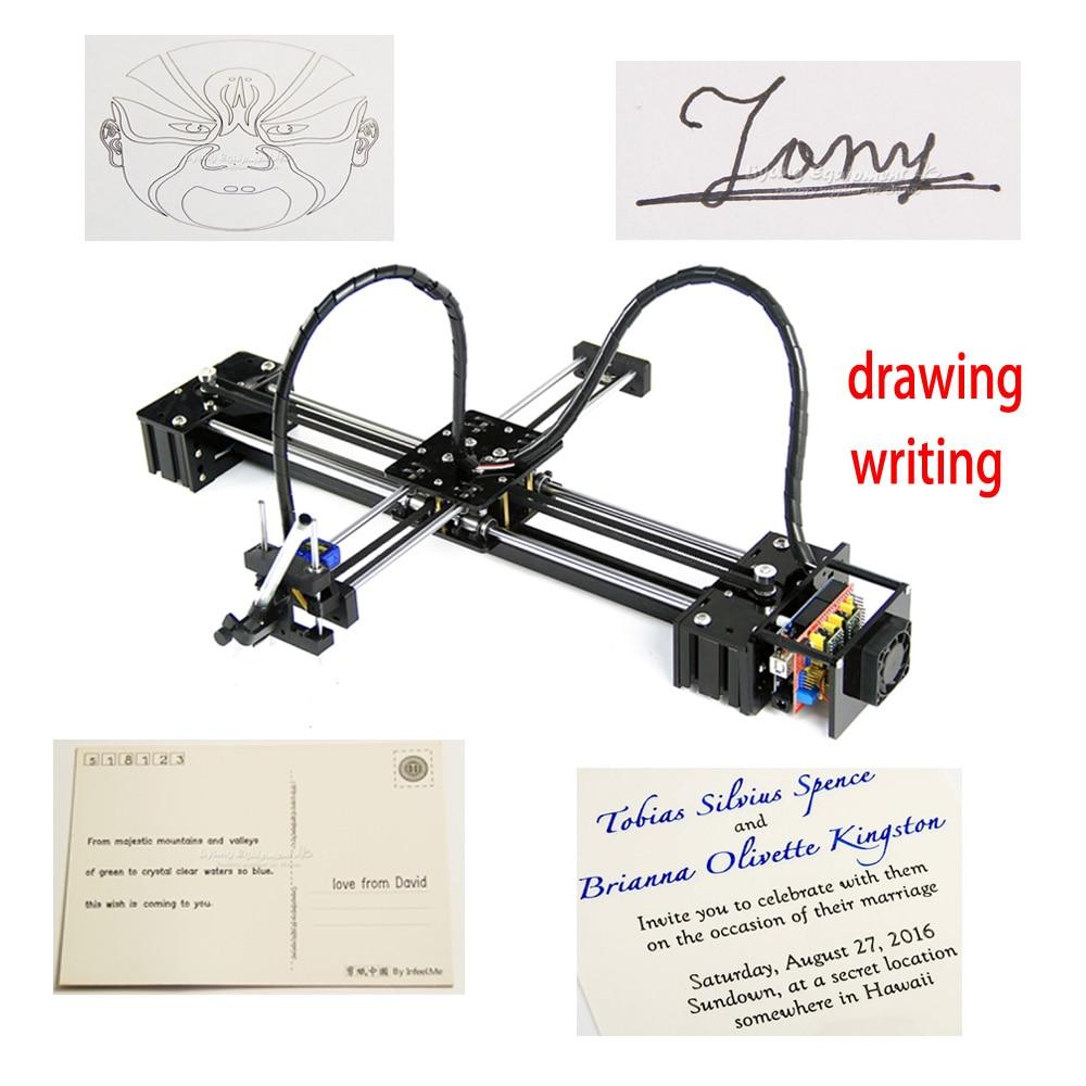 Cadeaux danniversaire pour enfants Sofeware et CNC V3 bouclier jouets bricolage LY dessin bot stylo lettrage corexy xy-traceur dessin robot machine