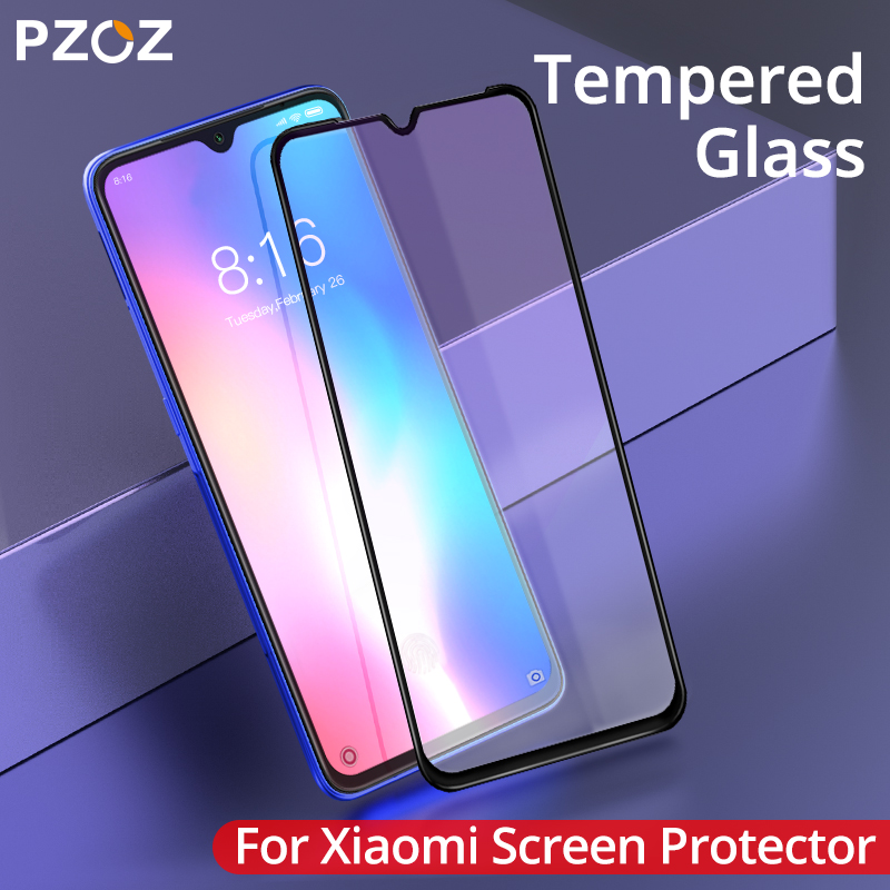 PZOZ For <font><b>Xiaomi</b></font> <font><b>Mi</b></font> Note 10 9 CC9 Pro CC9e 8 5X 6X <font><b>Mix</b></font> 3 <font><b>2</b></font> 2S A2 Lite A3 Pocophone F1 Tempered Glass <font><b>Screen</b></font> <font><b>Protector</b></font> Full Cover image