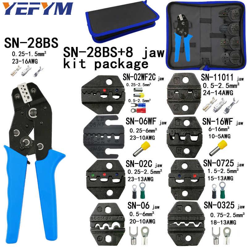 Krimpgereedschap Tang Set Voor XH2.54 Pulg/Buisvormige/Buis/Geïsoleerde Terminals SN-28BS SN-2549 8 Jaw Kit Elektrische drukken Tang