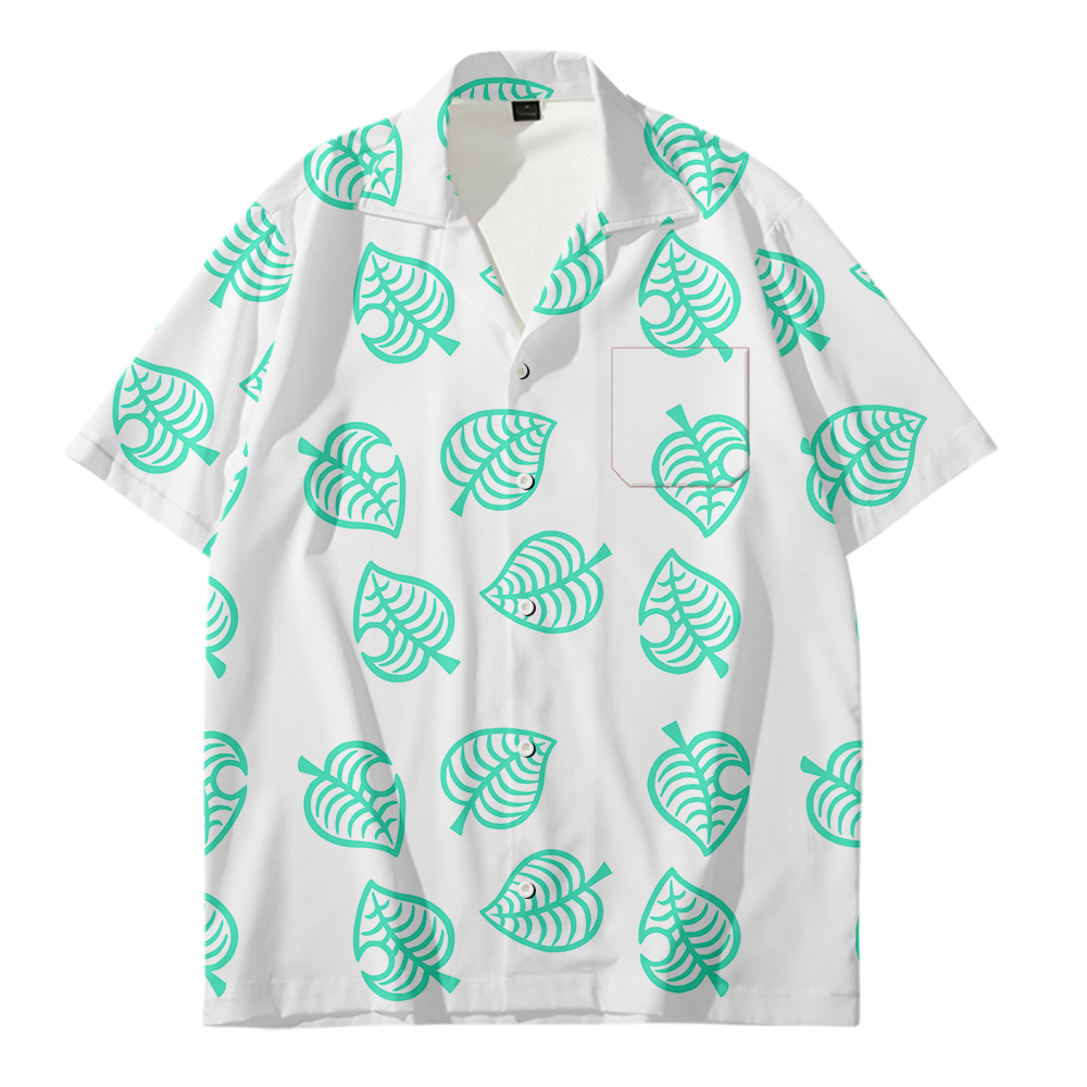 2020 New Arrival Men's Animal Crossin Shirts Men Hawaiian Fruit Shirts Casual One Button Shirts Printed Short-sleeve Tops