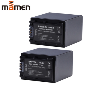 Mamen 2pcs Rechargeable NP FV100 NP-FV100 NPF100 Digital Battery Pack For Sony NP-FV30 NP-FV50 FV70 SX83E SX63E Camera Batteries