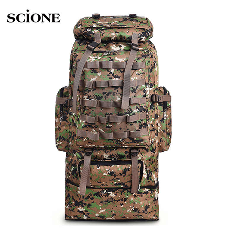 100L Military Backpack Molle Camping Bag Rucksack Tactical Backpack Men Large Hiking Army Travel Outdoor Sport Bags Sack XA231WA
