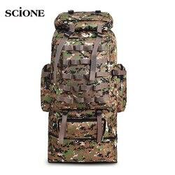 100L Military Rucksack Molle Camping Tasche Rucksack Taktische Rucksack Männer Große Wandern Armee Reise Outdoor Sport Taschen Sack XA231WA
