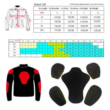 D020 Duhan motorcycle jacket Winter moto jacket protection 5 pcs Protective Gears 4 seasons capacete de motocross