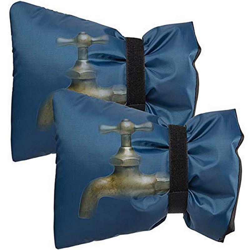 2 шт многоразовые крышки для смесителя для зимы водонепроницаемые носки для смесителя защита от замерзания открытый сад холодная погода Чехлы для смесителя - Цвет: Синий