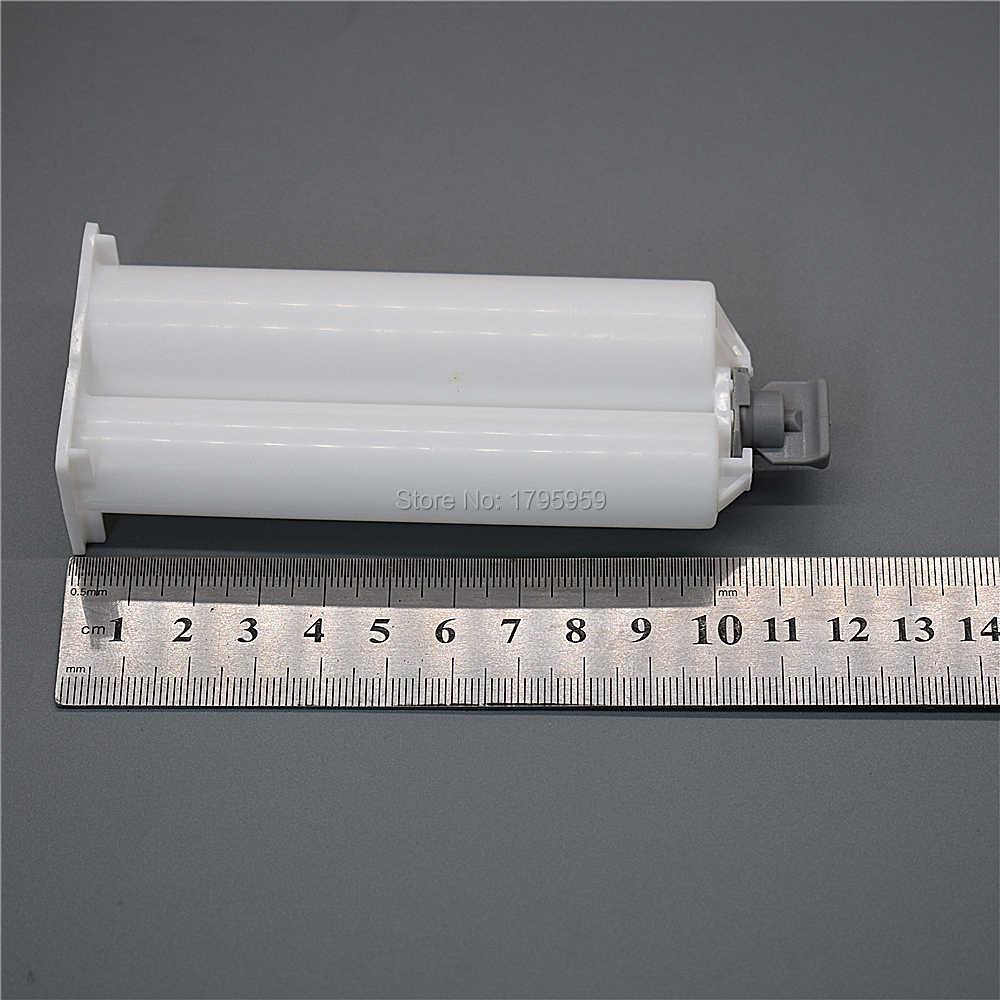 2 個 50 ミリリットルカートリッジ 1:2 空デュアルバレル AB チューブキャップとシールのためのピストンセット 50 ミリリットル Ab グルーガン 1:2 接着剤ディスペンサー