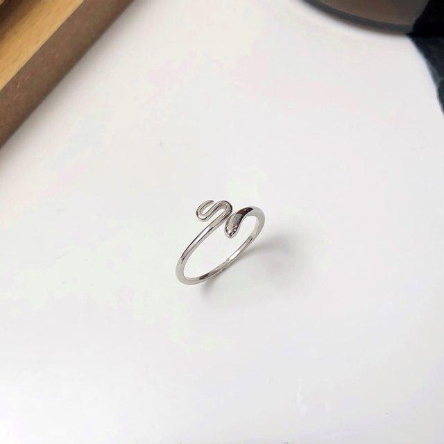 Фото leouerry 2020 новые открытые кольца из стерлингового серебра