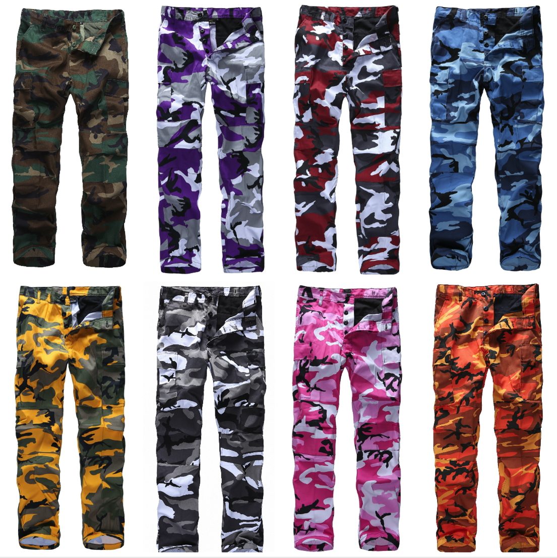 Image 2 - Mens Military Army Combat BDU Pants Work Casual Camouflage Fashion Cargo Pants-in Cargo Pants from Men's Clothing