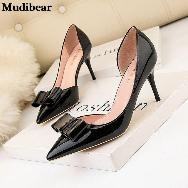 Фото туфли лодочки mudibear женские на высоком тонком каблуке кожа цена