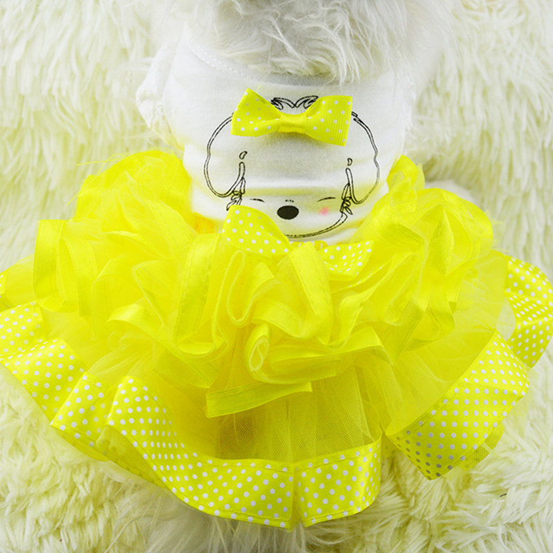Spring Summer Dog Wedding Dress Pet Dog Clothes for Small Dog Sweet Puppy Clothing Skirt Pet Clothes Lace Bow Dog Dress XS-XXL 9