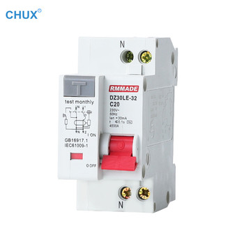 Mini Circuit breaker DZ30LE-32 1P+N 10a 16A 20A 25A 32A 220V 230V 50HZ 60HZ Residual Current Household Leakage protect MCB