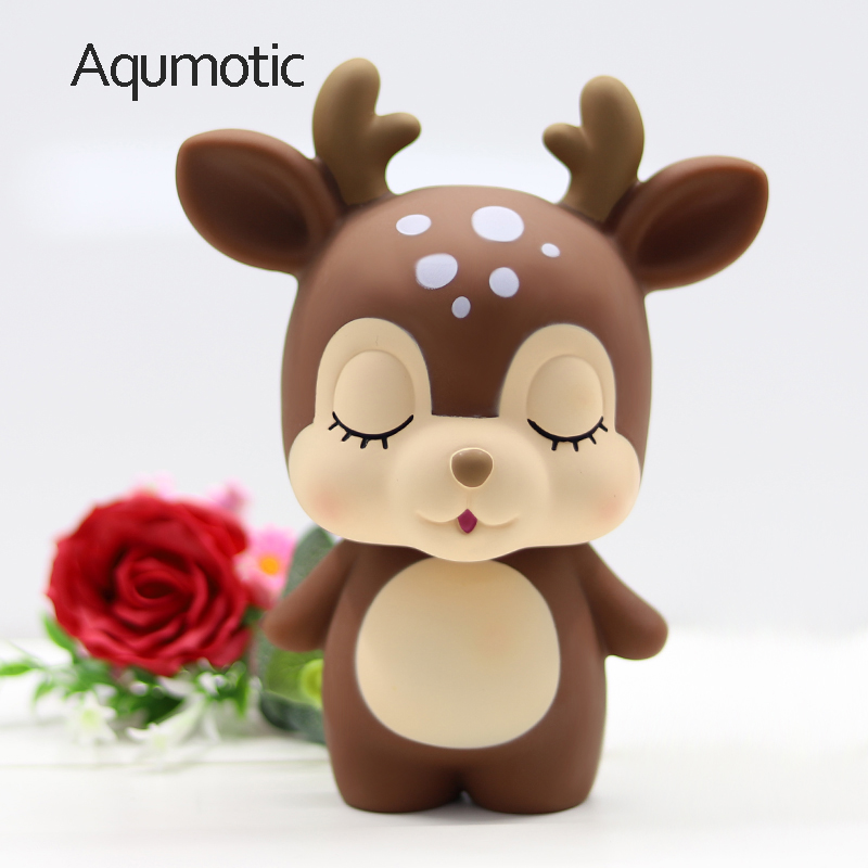 Aqumotic Deer Money Box Cash Box With Money Tray Save Saving For Kid Anti-break New Year Gift Kids Gifts 1pc Animal Cute Item