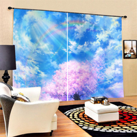 Anime Character Curtains for Window Home Decor Blackout Window Treatment for Living Room Bedroom Custom
