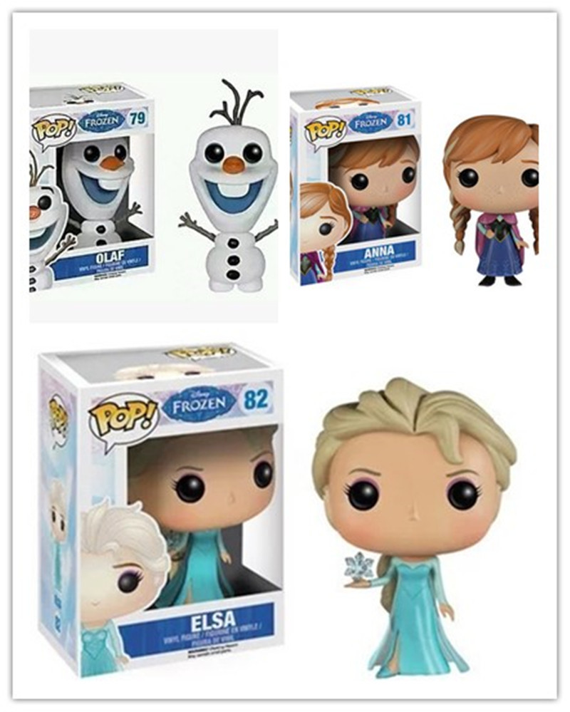 FUNKO POP Disney Frozen Snow Queen Princess Doll Anna Elsa Olaf Action Figure Collection Model Toys For Children Christmas Gift