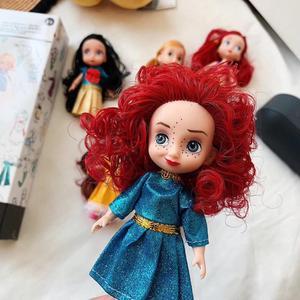 Image 4 - 6 teile/satz Prinzessin Puppe Schnee Weiß Meerjungfrau Lange Haar Prinzessin Glocke Spielzeug Puppen für kinder Geburtstag Geschenke Auf Lager