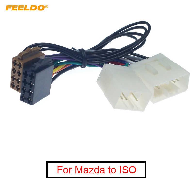 [ZTBE_9966]  FEELDO 10Pcs Car Stereo Conversion Plug Wire Adapter For Mazda to ISO CD Radio  Wiring Harness Original Head Units Cable| | - AliExpress | Mazda Car Stereo Wiring Harness |  | www.aliexpress.com