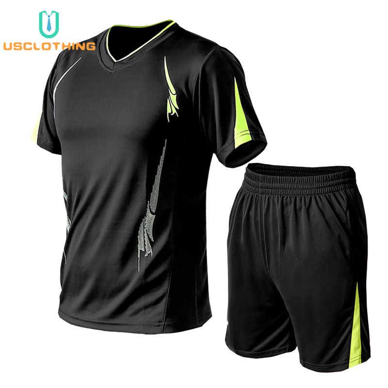 2Pcs Tshirt + 반바지 Tracksuit 남자 브랜드 세트 바지 여름 남자 티셔츠 반바지 캐주얼 정장 스포츠웨어 남자 티셔츠 스웨터